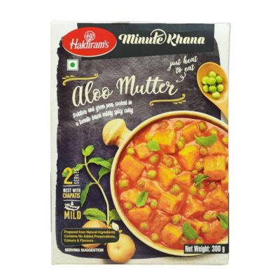 Готовое блюдо (Картофель с горохом по-индийски) (300 г), Aloo Mutter, произв. Haldirams