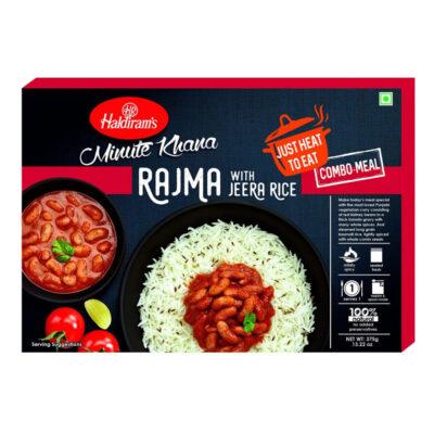 Готовое блюдо (Красная фасоль в пряном соусе с рисом) (375 г), Rajma with Jeera Rice, произв. Haldirams