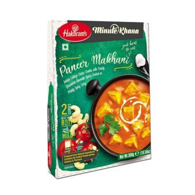 Готовое блюдо (Мягкий сыр «панир» в пряном соусе) (300 г), Paneer Makhani, произв. Haldirams