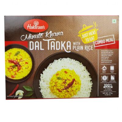 Готовое блюдо Dal Tadka with Plain Rice (чечевица с луком, зеленым перцем чили и рисом) (375 г), произв. Haldirams