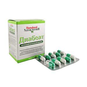 Диабеат, для регуляции уровня сахара в крови, 60 таб, Хамдард; Diabeat, 60 tab, Hamdard