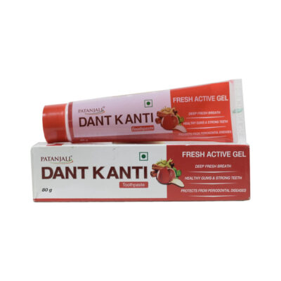 Зубная паста гель Дант Канти Фреш Актив (80 г), Dant Kanti Fresh Active Gel Toothpaste, произв. Patanjali