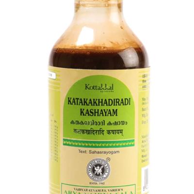 Катакакхадиради Кашаям: от диабета (200 мл), Katakakhadiradi Kashayam, произв. Kottakkal Ayurveda