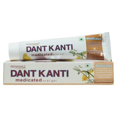 Лечебная зубная паста Дант Канти (100 г), Dant Kanti Medicated Toothpaste, произв. Patanjali