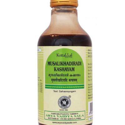 Мусалихадиради Кашаям: для женского здоровья (200 мл), Musalikhadiradi Kashayam, произв. Kottakkal Ayurveda