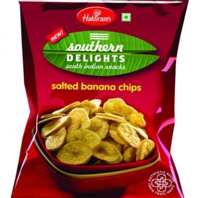Соленые банановые чипсы (180 гр), Salted Banana Chips, произв. Haldirams