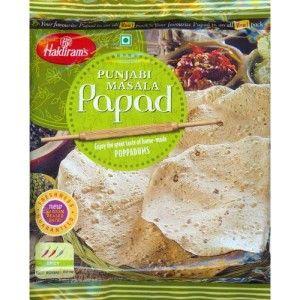 Сухие лепешки Панджаби Папад (200 г), Punjabi Papad, произв. Haldirams