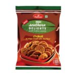 Хрустящая закуска из рисовой муки Чаколи (200 гр), Chakoli, произв. Haldirams