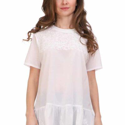 Блузка (хлопок) с вышивкой №Бл18-055
