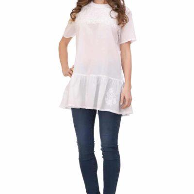 Блузка (хлопок) с вышивкой №Бл18-059