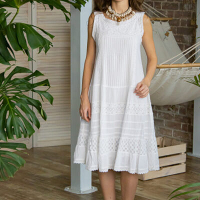 Платье (хлопок) с вышивкой №20-385 4шт.уп