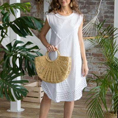 Платье (хлопок) с вышивкой №20-391 4шт.уп