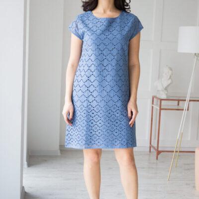 Платье (хлопок) кружевом №20-107-3 4шт.уп