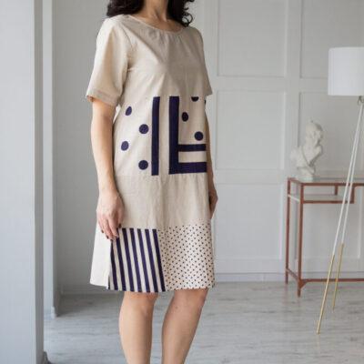 Платье (хлопок) №20- 327-1 4шт.уп