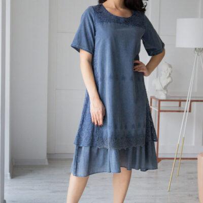 Платье (хлопок) c кружевом №20-335-1 3шт.уп