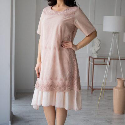 Платье (хлопок) c кружевом №20-335-2 3шт.уп
