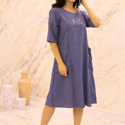 Платье (хлопок) с вышивкой №20-332-2 4шт.уп