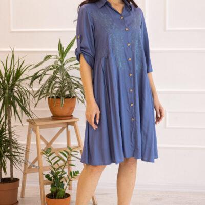 Платье (вискоза) с вышивкой №20-334-1 4шт.уп