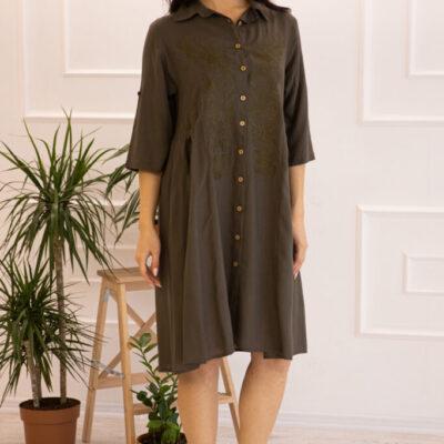 Платье (вискоза) с вышивкой №20-334-2 4шт.уп