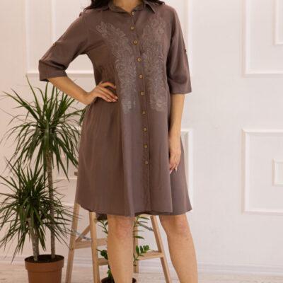 Платье (вискоза) с вышивкой №20-334-3 4шт.уп