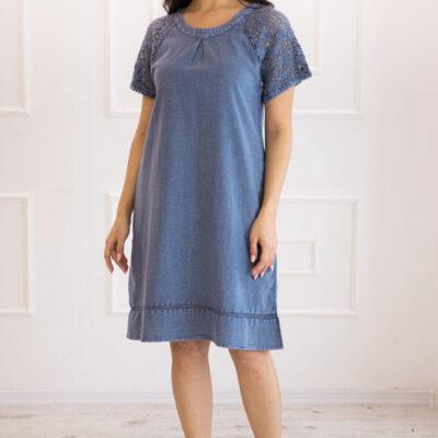 Платье (хлопок) с кружевом №20-340 4шт.уп