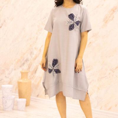 Платье (вискоза) с апликацией №20-346-1 4шт.уп
