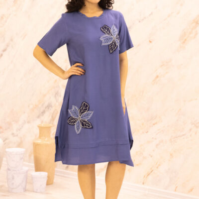 Платье (вискоза) с апликацией №20-346-2 4шт.уп