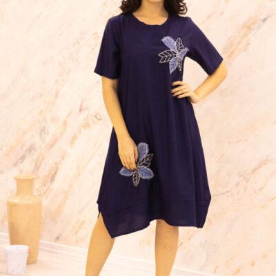 Платье (вискоза) с апликацией №20-346-3 4шт.уп
