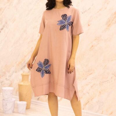 Платье (вискоза) с апликацией №20-346-4 4шт.уп