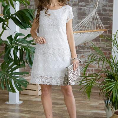 Платье (хлопок) c кружевом №20-348 4шт.уп