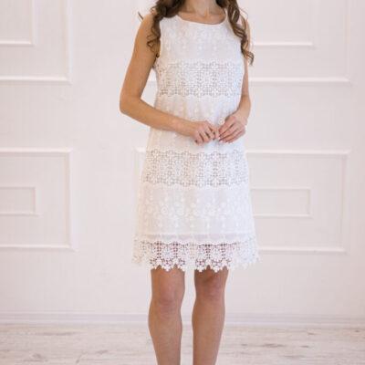 Платье (хлопок) c кружевом №20-347 4шт.уп