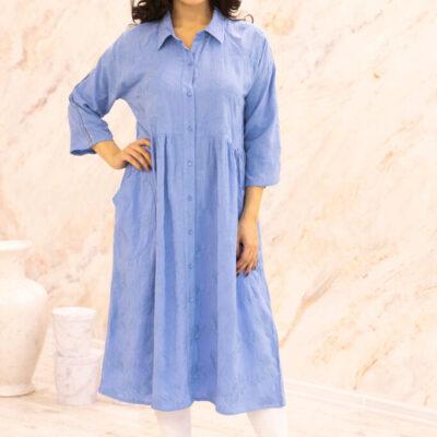 Платье (вискоза) с вышивкой №20-355-1 4шт.уп