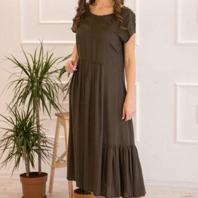 Платье (вискоза) с вышивкой №20-352-1 4шт.уп