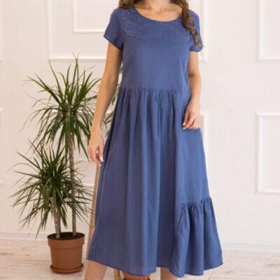 Платье (вискоза) с вышивкой №20-352-2 4шт.уп