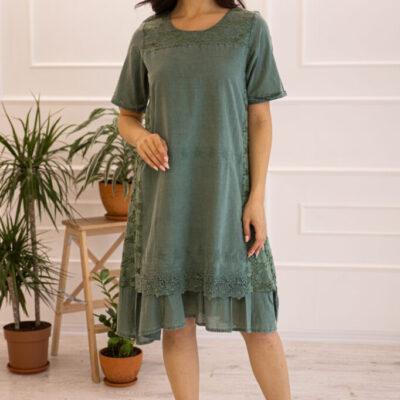 Платье (хлопок) c кружевом №20-335-3 3шт.уп