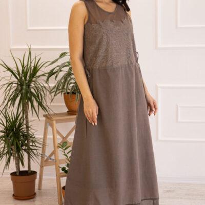 Платье (хлопок) c кружевом №20-345-2 4шт.уп