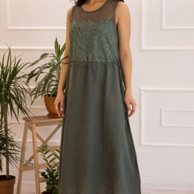 Платье (хлопок) c кружевом №20-345-3 4шт.уп