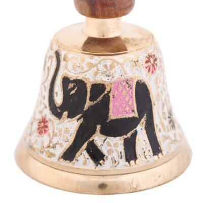 Колокольчик № Кл00557 (эмаль слон) с дер. ручкой