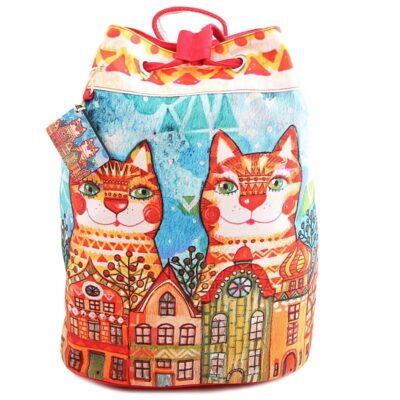 Сумка-рюкзак хлопок с декор. отделкой № АВ4540