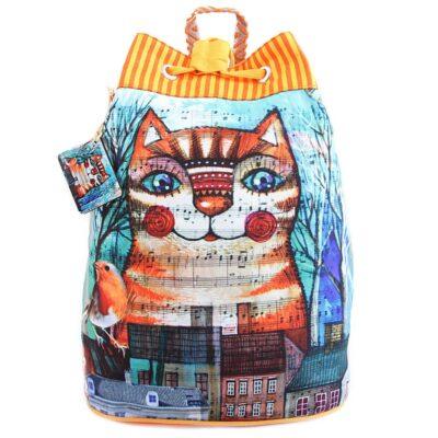 Сумка-рюкзак хлопок с декор. отделкой № АВ4496