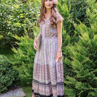 Платье (вискоза креп) с кружевом №Пл18-067-1