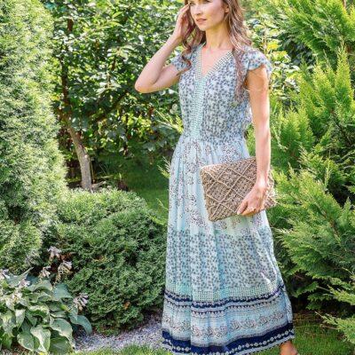 Платье (вискоза креп) с кружевом №Пл18-067-2