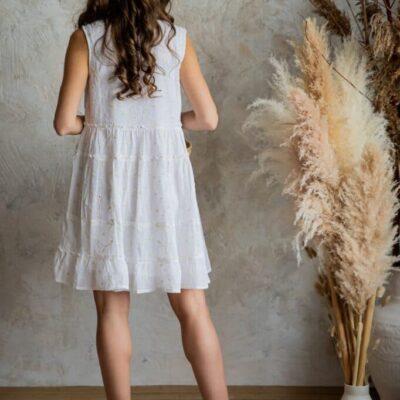 Платье-туника (хлопок) с кружевом №19-175
