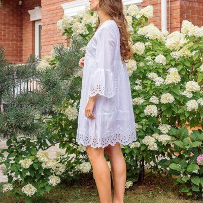 Платье-туника (хлопок) с вышивкой №19-053
