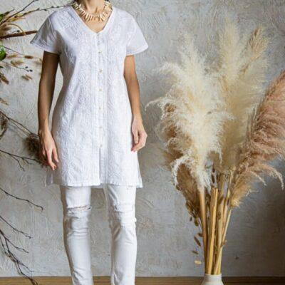 Рубашка-туника (хлопок) с вышивкой №20-404 4 шт.уп
